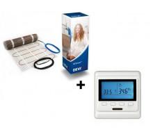 Devi Мат для теплого пола Comfort DTIR-150 (4м2) + программируемый терморегулятор Castle E53