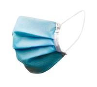 Защитная маска для лица (голубая) набор 50шт