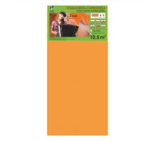 Подложка гармошка под ламинат Solid Оранжевая (1050x500) мм