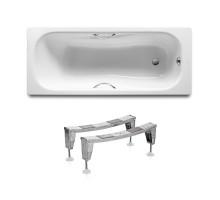 ROCA Комплект: PRINCESS ванна 170*75см прямоугольная, с ручками + ножки