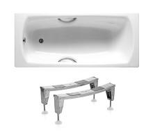 ROCA Комплект: SWING ванна 180*80см прямоугольная, с ручками + ножки