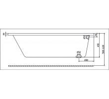 MODO ванна 160*70см прямоугольная, с ножками